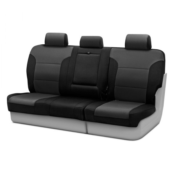 Coverking® - Neosupreme 3rd Row Black & Charcoal Custom Seat Covers