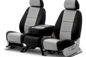 Coverking® - Neosupreme 2nd Row Black & Gray Custom Seat Covers