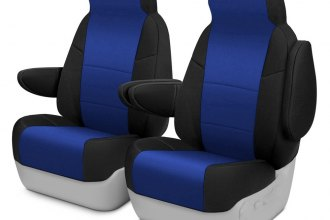 Coverking® - Neosupreme 1st Row Black & Blue Custom Seat Covers