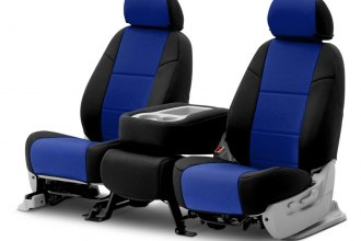 Coverking® - Neosupreme 2nd Row Black & Blue Custom Seat Covers