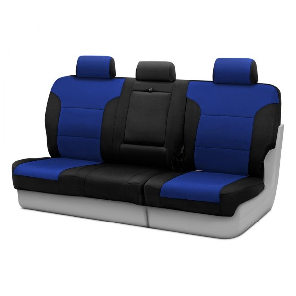 Coverking® - Neosupreme 3rd Row Black & Blue Custom Seat Covers