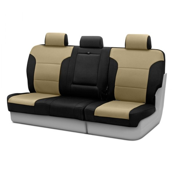 Coverking® - Neosupreme 3rd Row Black & Tan Custom Seat Covers