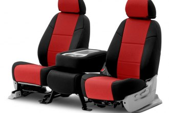 Coverking® CSC2A7MA9360 - Neosupreme 2nd Row Black & Red Custom Seat Covers