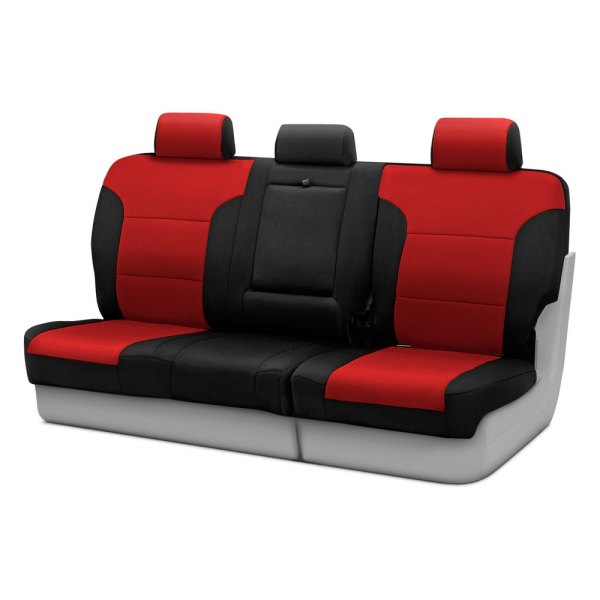 Coverking® - Neosupreme 3rd Row Black & Red Custom Seat Covers
