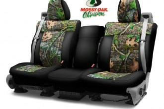 Coverking® CSC2MO04NS7043 - Mossy Oak™ 2nd Row Camo 2-Tone Obsession Custom Seat Covers