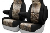 Image may not reflect your exact vehicle! Coverking® - Mossy Oak™ 1st Row Camo 2-Tone Duck Blind Custom Seat Covers