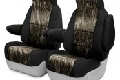 Image may not reflect your exact vehicle! Coverking® - Mossy Oak™ 1st Row Camo 2-Tone Bottomland Custom Seat Covers