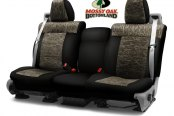 Image may not reflect your exact vehicle! Coverking® - Mossy Oak™ 2nd Row Camo 2-Tone Bottomland Custom Seat Covers