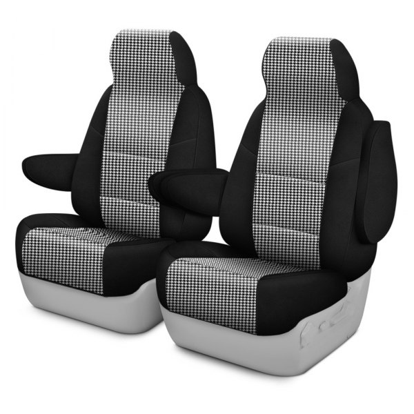 Coverking® - Designer Printed Neosupreme 1st Row Houndstooth Custom Seat Covers