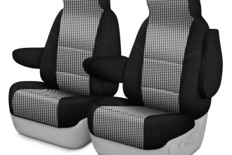 Coverking® CSC2PD03CH7368 - Designer Printed Neosupreme 1st Row 2-Tone Houndstooth Custom Seat Covers