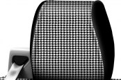 Coverking® - Designer Printed Neosupreme 2-Tone Houndstooth Custom Seat Covers Headrest