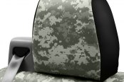 Coverking® - Digital 1st Row 2-Tone Jungle Custom Seat Covers Headrest