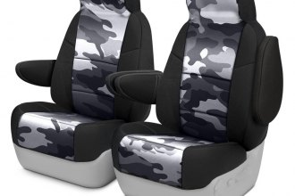 Coverking® CSC2PD12CH7020 - Traditional 1st Row Camo 2-Tone Urban Custom Seat Covers