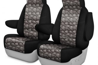 Coverking® CSC2PD21GM8689 - Neosupreme 1st Row Black & Armor Custom Seat Covers