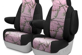 Coverking® CSC2RT07JP7063 - Realtree™ 1st Row Camo 2-Tone AP Pink Custom Seat Covers