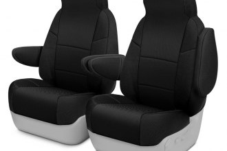 Coverking® CSC2S1HI9306 - Spacer Mesh 1st Row Black Custom Seat Covers