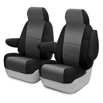 Coverking® - Spacer Mesh 1st Row 2-Tone Black & Gray Custom Seat Covers