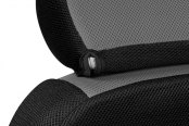 Coverking® - Spacer Mesh Black & Gray Custom Seat Covers Headrest