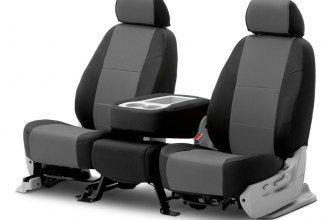 Coverking® - Spacer Mesh 2nd Row Black & Gray Custom Seat Covers