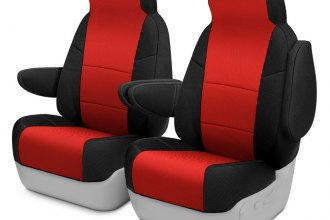 Coverking® - Spacer Mesh 1st Row Black & Red Custom Seat Covers