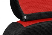 Coverking® - Spacer Mesh Black & Red Custom Seat Covers Headrest