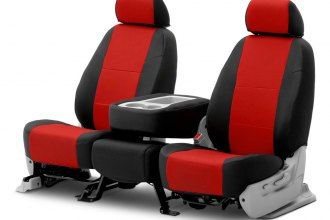 Coverking® CSC2S7FD7718 - Spacer Mesh 2nd Row 2-Tone Black & Red Custom Seat Covers