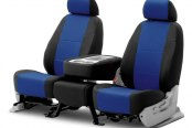 Coverking® - Spacer Mesh 2nd Row Black & Blue Custom Seat Covers