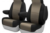 Coverking® - Spacer Mesh 1st Row Black & Taupe Custom Seat Covers