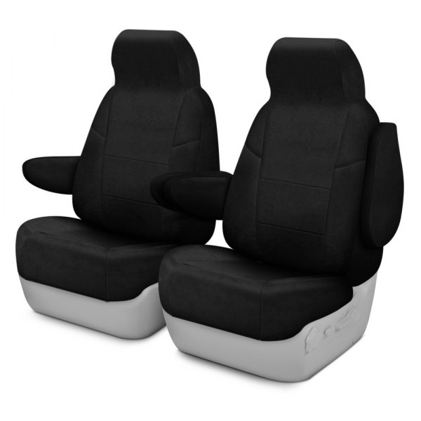 Coverking® - Suede 1st Row Black Custom Seat Covers