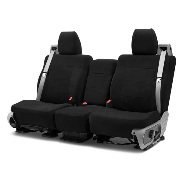 Coverking® - Suede 2nd Row Black Custom Seat Covers