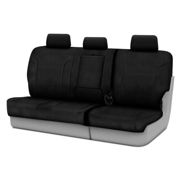 Coverking® - Suede 3rd Row Black Custom Seat Covers