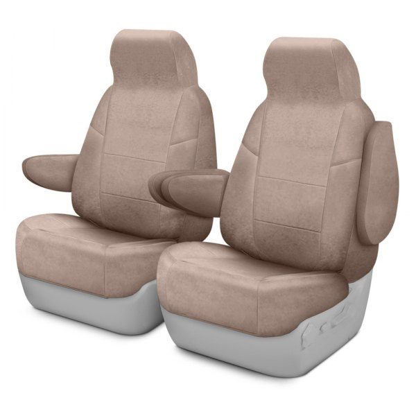 Coverking® - Suede 1st Row Beige Custom Seat Covers