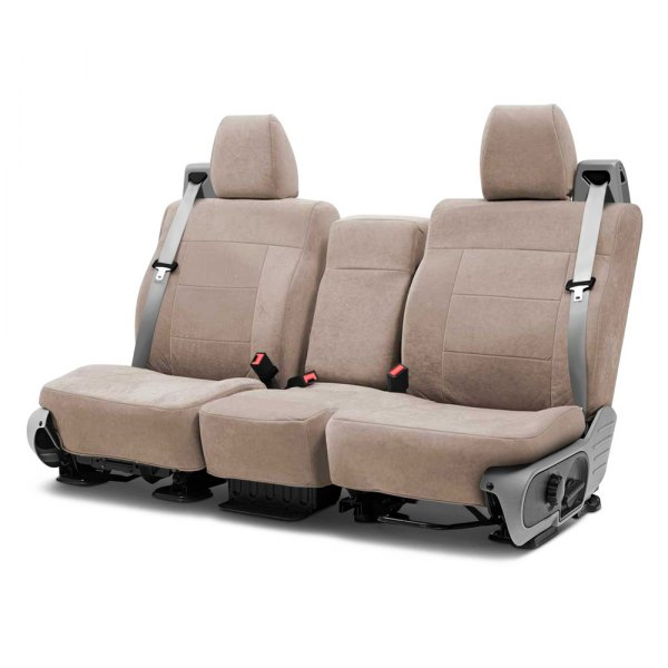 Coverking® - Suede 2nd Row Beige Custom Seat Covers