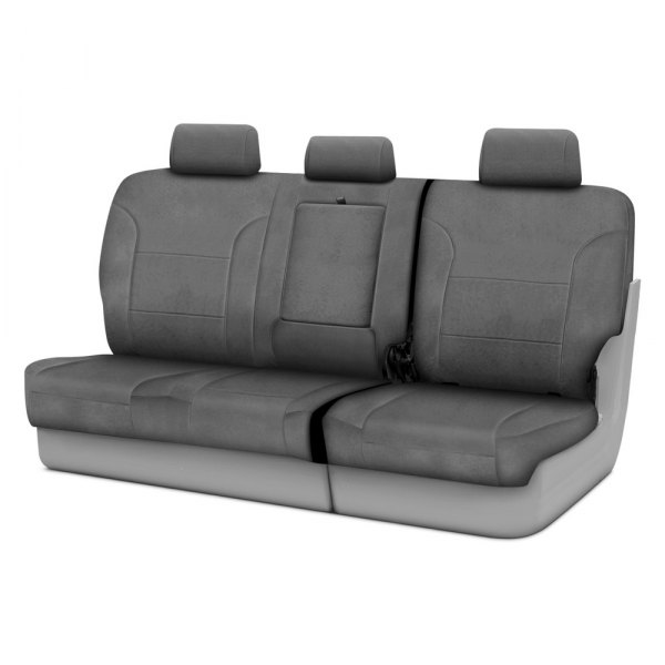 Coverking® - Suede 3rd Row Charcoal Custom Seat Covers