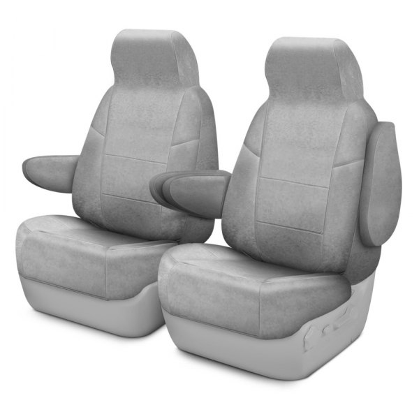 Coverking® - Suede 1st Row Gray Custom Seat Covers