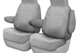 Coverking® CSCC3DG7393 - Suede 1st Row Gray Custom Seat Covers