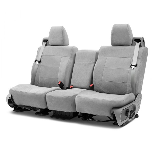 Coverking® - Suede 2nd Row Gray Custom Seat Covers