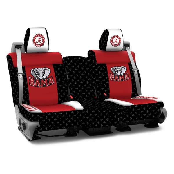 Coverking® - Licensed Collegiate 1st Row Custom Seat Covers with The University of Alabama Logo