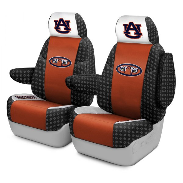 Coverking® - Licensed Collegiate 1st Row Custom Seat Covers with Auburn University Logo