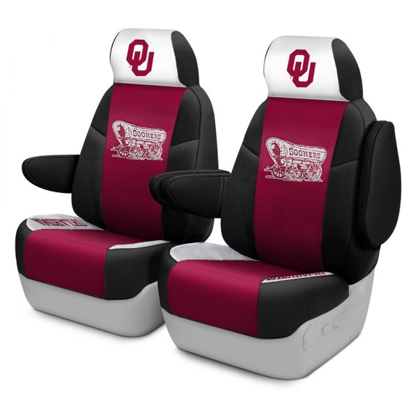 Coverking® - Licensed Collegiate 1st Row Custom Seat Covers with University of Oklahoma Logo