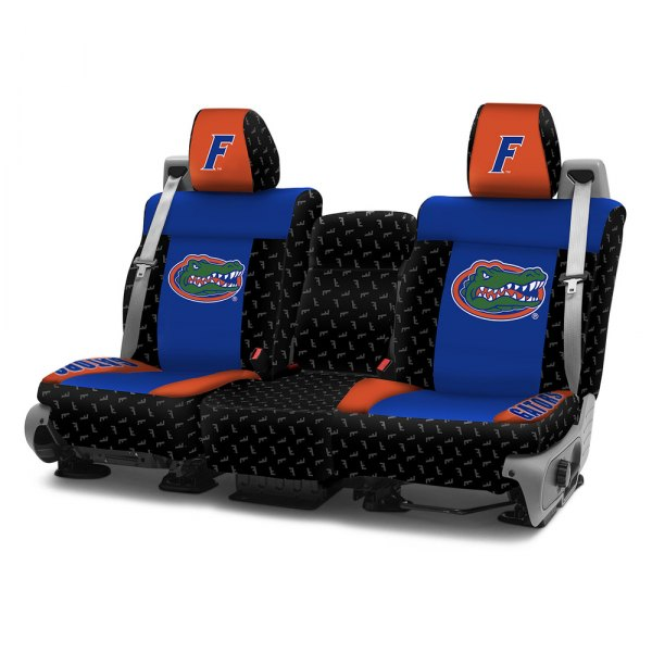 Coverking® - Licensed Collegiate 1st Row Custom Seat Covers with University of Florida Logo