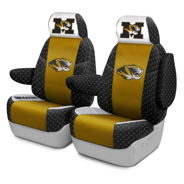 Coverking® - Licensed Collegiate 1st Row Custom Seat Covers with University of Missouri Logo