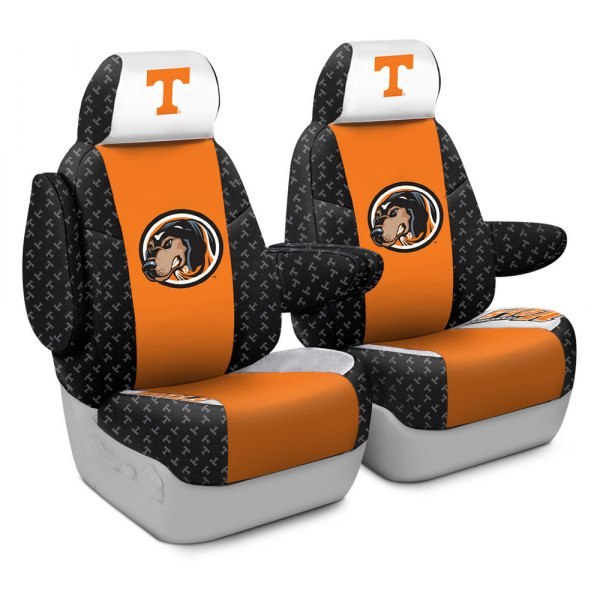 Coverking® - Licensed Collegiate 1st Row Custom Seat Covers with University of Tennessee Logo