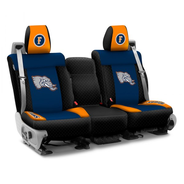 Coverking® - Licensed Collegiate 2nd Row Custom Seat Covers with California State University Fullerton Logo