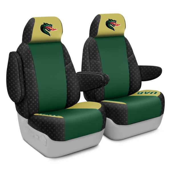 Coverking® - Licensed Collegiate 1st Row Custom Seat Covers with University of Alabama at Birmingham Logo