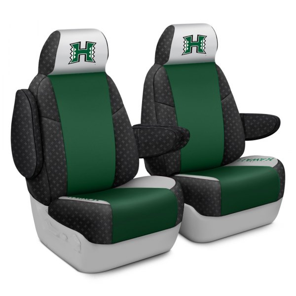 Coverking® - Licensed Collegiate 1st Row Custom Seat Covers with University of Hawaii System Logo
