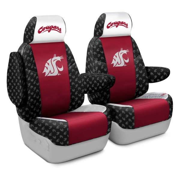 Coverking® - Licensed Collegiate 1st Row Custom Seat Covers with Washington State University Logo