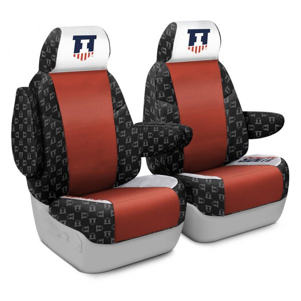 Coverking® - Licensed Collegiate 1st Row Custom Seat Covers with University of Illinois Logo
