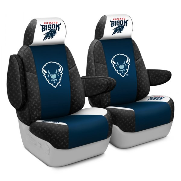 Coverking® - Licensed Collegiate 1st Row Custom Seat Covers with Howard University Logo