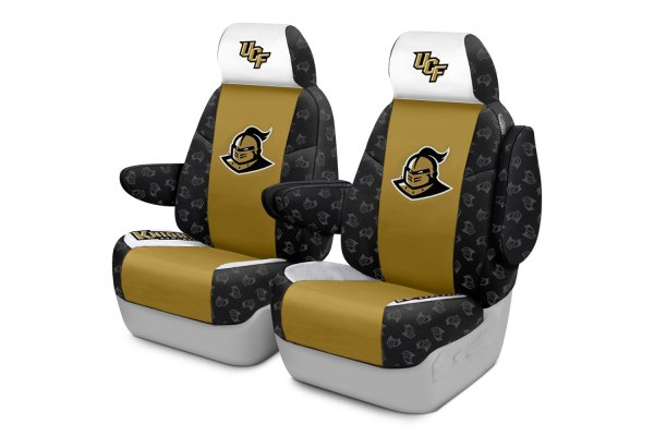 Coverking® - Licensed Collegiate 1st Row Custom Seat Covers with University of Central Florida Logo